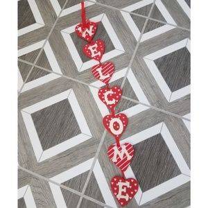 Other - Heart Valentine's Day Welcome Hanging Sign